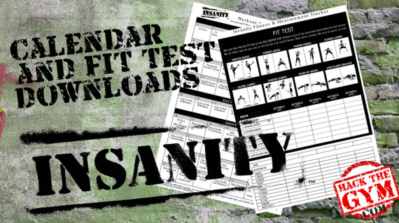 Download The Insanity Workout Calendar and Fit Test