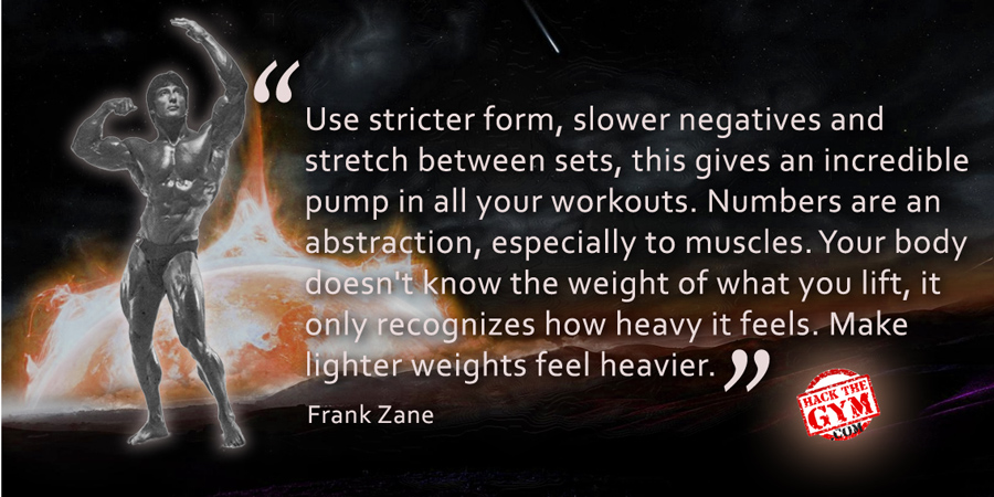 Frank Zane Inspirational Quote