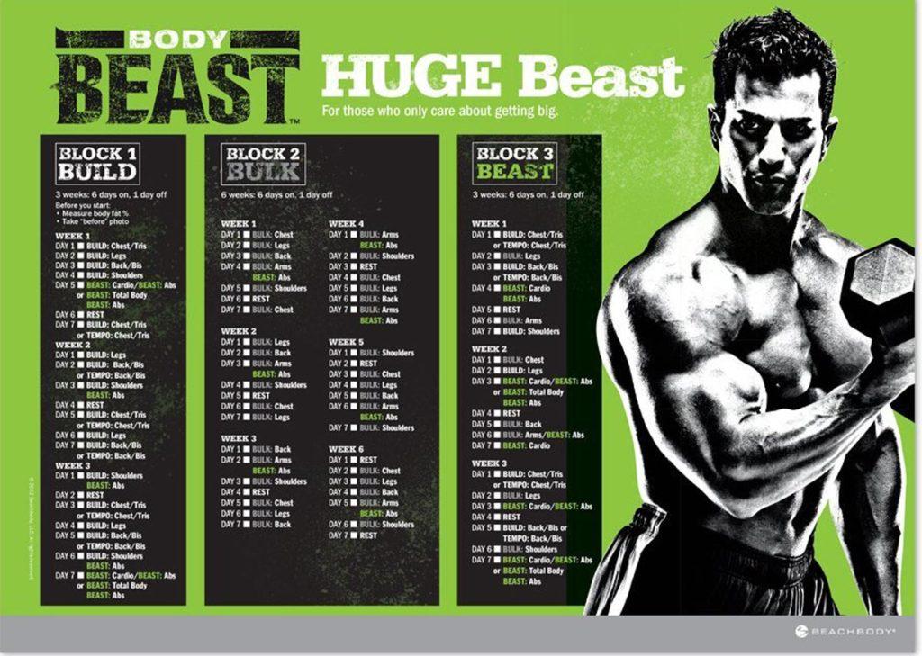 Https Hackthegym Wp Content Uploads 2017 07 Huge Beast Workout Schedule 1024x729 Jpg